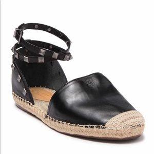 Schutz Karalina Studded Leather Flat.